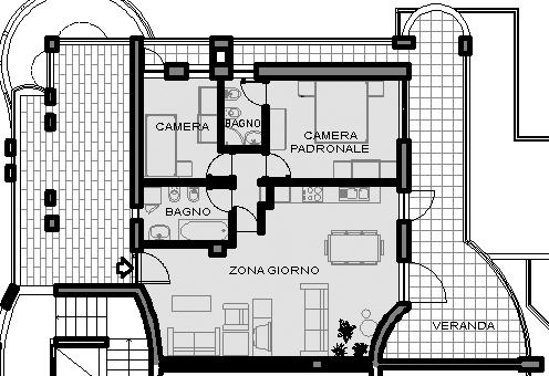 Marvelous Questo Appartamento Ha Una Superficie Netta Di Circa 70 Mq E Ospita Una  Camera Da Letto Singola, Una Camera Da Letto Padronale Con Bagno In Camera,  ...